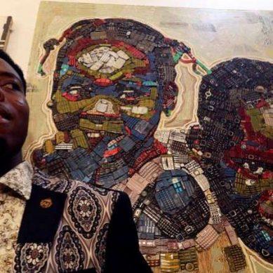 Un peintre ivoirien donne une nouvelle vie aux déchets électroniques