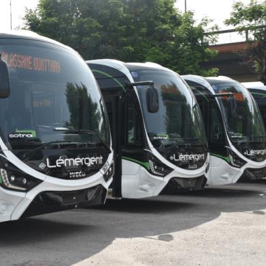 La SOTRA a réceptionné 450 autobus dont 50 à gaz naturel.