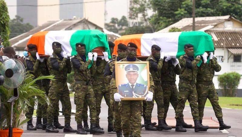 Hommage national aux soldats tombés à Kafolo
