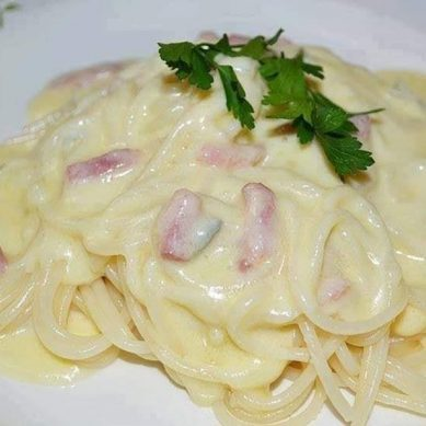 Recette:spaghetti aux 3 fromages