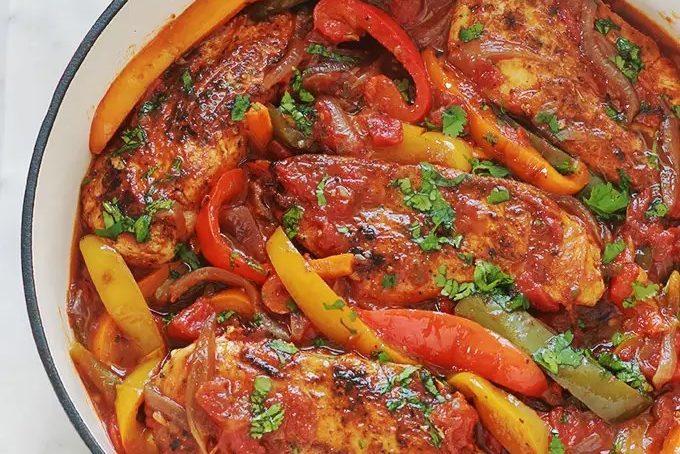 Recette du poulet aux poivrons