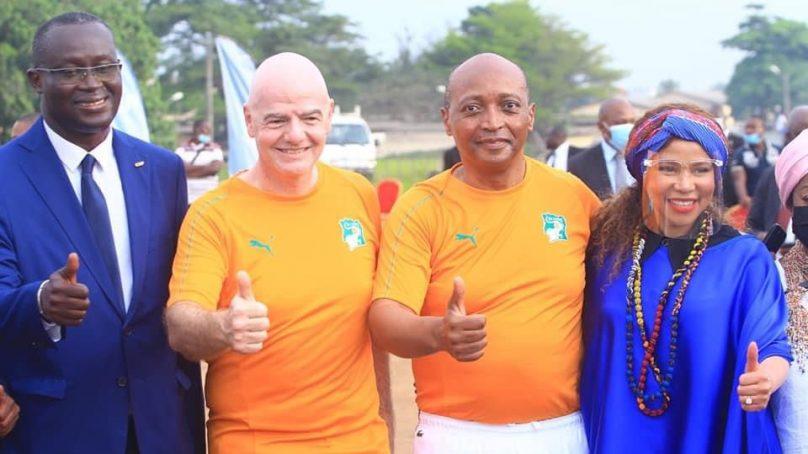 Tout sur la visite des présidents GIANNI de la FIFA et MOTSEPE de la CAF en Côte d'Ivoire