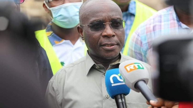 Le Ministre en charge de la Salubrité, Bouake Fofana a visité des centres de collecte des dechets d'Abidjan