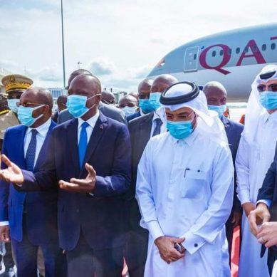 Transport aérien: La Côte d'Ivoire a accueilli son 1er vol direct de Qatar Airways